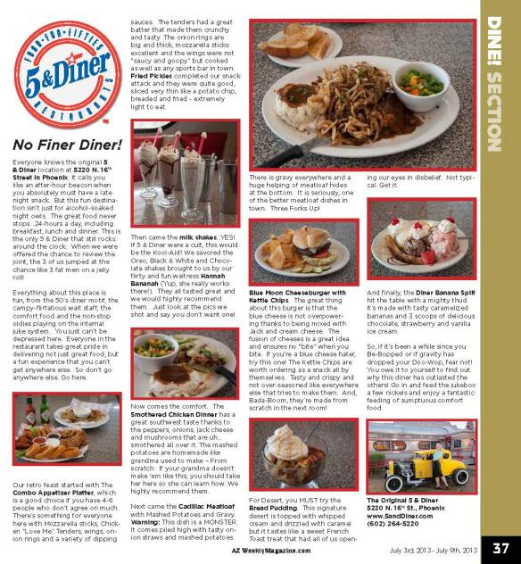 AZ Weekly Review of 16th Street Diner